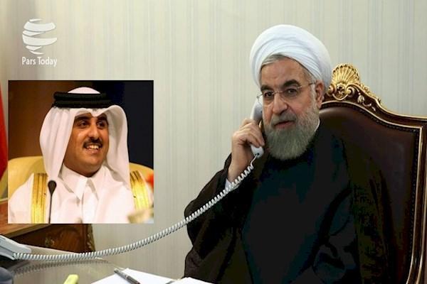 تماس فوتبالی رئیس جمهور با امیر قطر: مشارکت در برگزاری جام جهانی