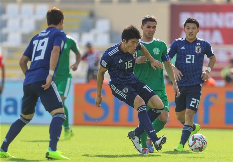 جام ملت های آسیا، شکست ناباورانه ژاپن مقابل ترکمنستان در نیمه اول با قضاوت فغانی