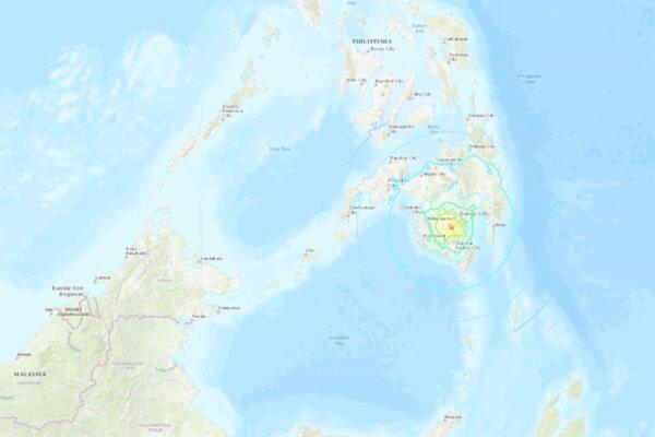 وقوع زمین لرزه 6.8 ریشتری در فیلیپین