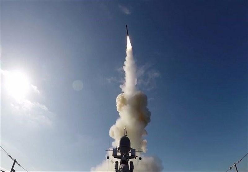 نخستین شلیک موشک کالیبر از عرشه کشتی در دریای سیاه