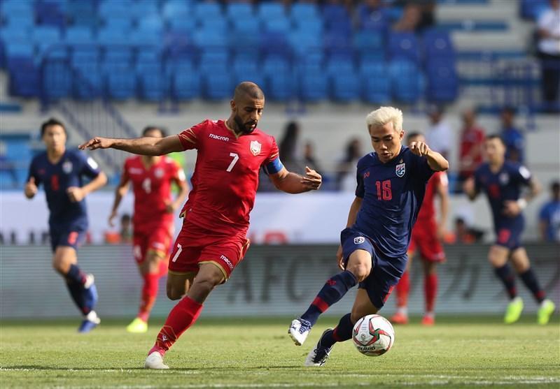 جام ملت های آسیا، تساوی بحرین و تایلند در سرانجام نیمه اول