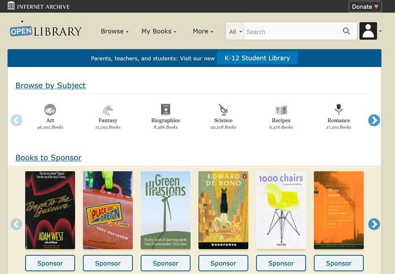 آیا از گنجی به نام Open Library استفاد می کنید؟