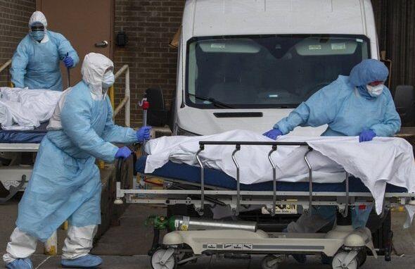 تلفات کرونا در آمریکا از 169 هزار نفر گذشت ، ثبت 1079 کشته در 24 ساعت