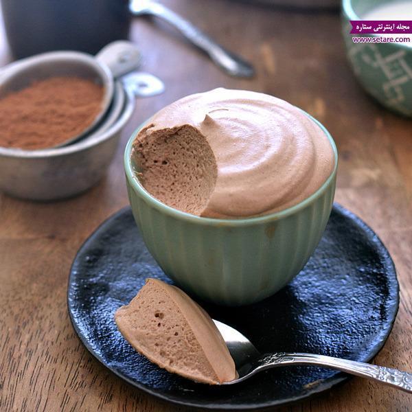 طرز تهیه موس شکلات قهوه ای