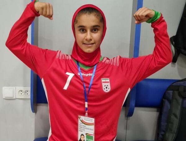 دختر فوتبالیست ایران ارزشمندترین بازیکن کافا شد
