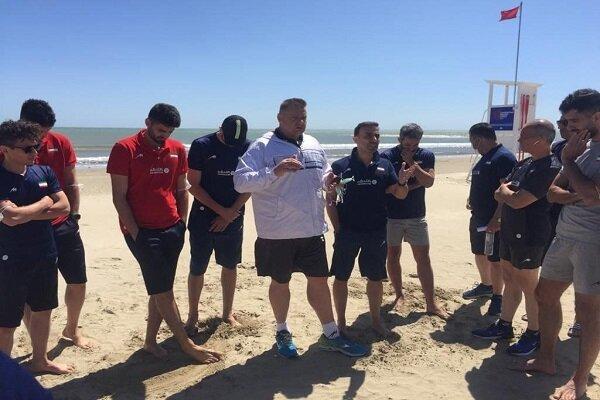 برنامه اختصاصی ملی پوشان والیبال در سواحل ریمینی
