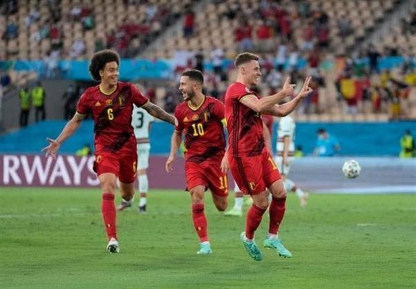 یورو 2020، پیروزی بلژیک مقابل پرتغال در نیمه نخست