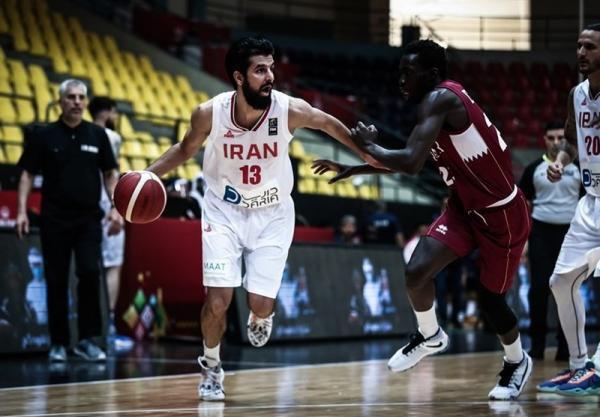 بسکتبال انتخابی کاپ آسیا، پیروزی آسان ایران مقابل قطر